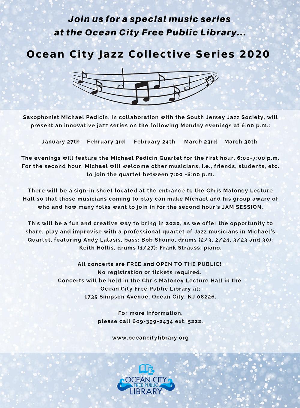 Michael pedicin - Jazz-Collective-Series-2020-Flyer